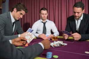 Men at the poker table
